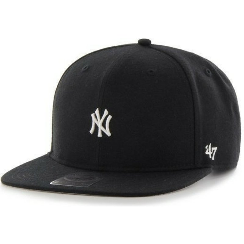 47-brand-flat-brim-new-york-yankees-mlb-centerfield-black-snapback-cap