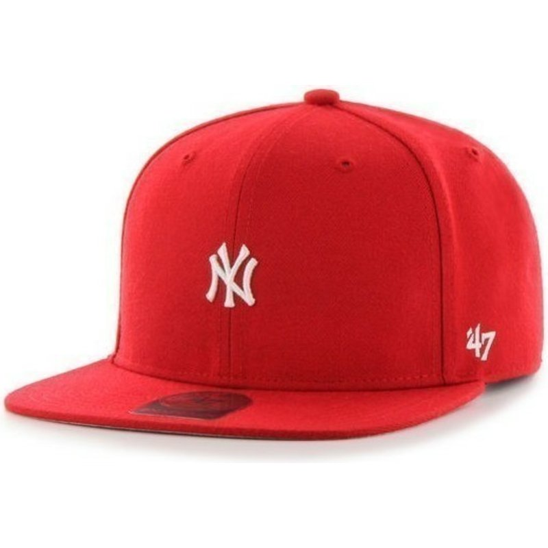 47-brand-flat-brim-new-york-yankees-mlb-centerfield-red-snapback-cap