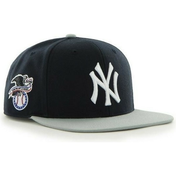 47-brand-flat-brim-grey-brimnew-york-yankees-mlb-sure-shot-black-snapback-cap