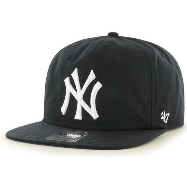 47-brand-flat-brim-new-york-yankees-mlb-black-snapback-cap