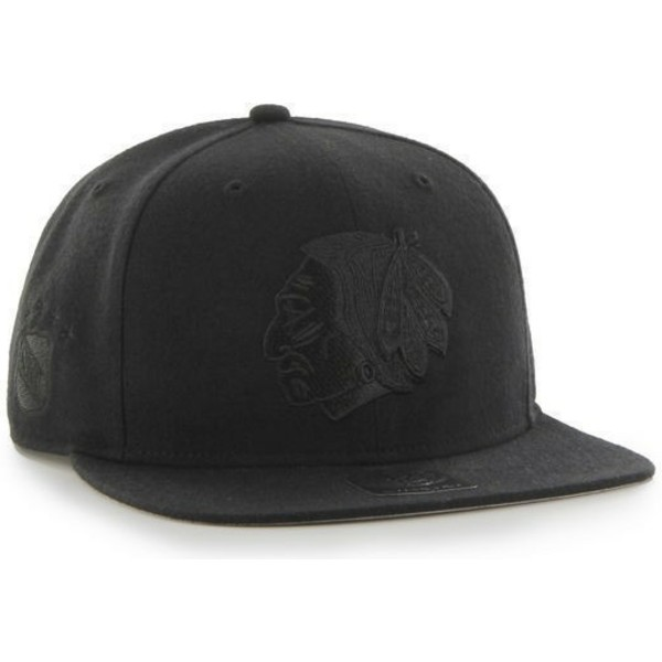 47-brand-flat-brim-black-logo-chicago-blackhawks-nhl-sure-shot-black-snapback-cap