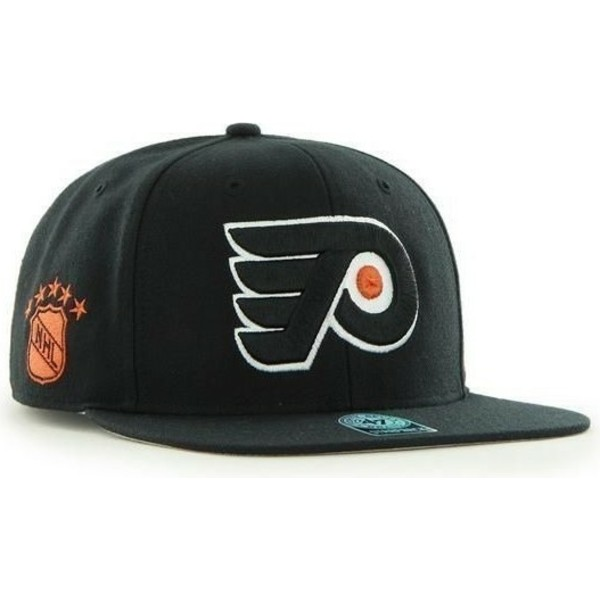 47-brand-flat-brim-philadelphia-flyers-nhl-sure-shot-black-snapback-cap