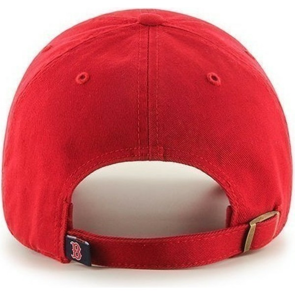 47-brand-curved-brim-boston-red-sox-mlb-clean-up-red-cap