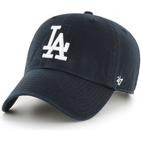 47-brand-curved-brim-los-angeles-dodgers-mlb-clean-up-black-cap