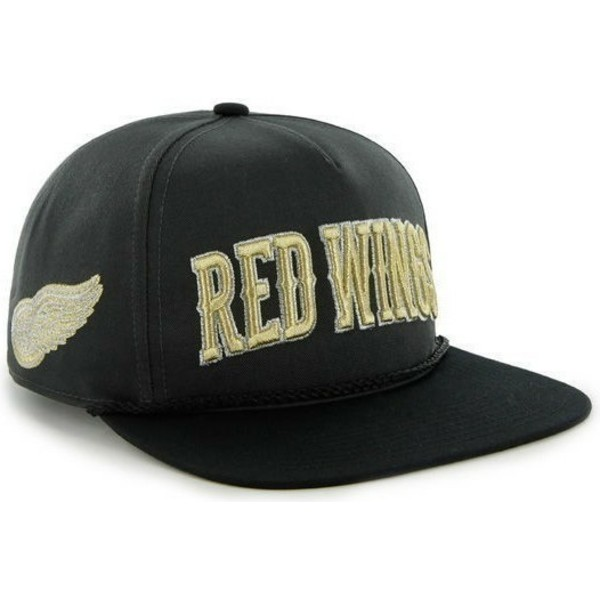 47-brand-flat-brim-detroit-red-wings-nhl-black-snapback-cap