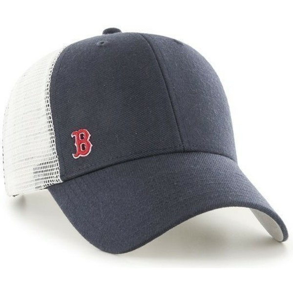 47-brand-small-logo-mlb-boston-red-sox-navy-blue-trucker-hat