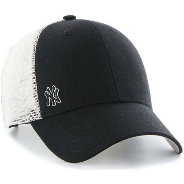 47-brand-small-logo-mlb-new-york-yankees-black-trucker-hat