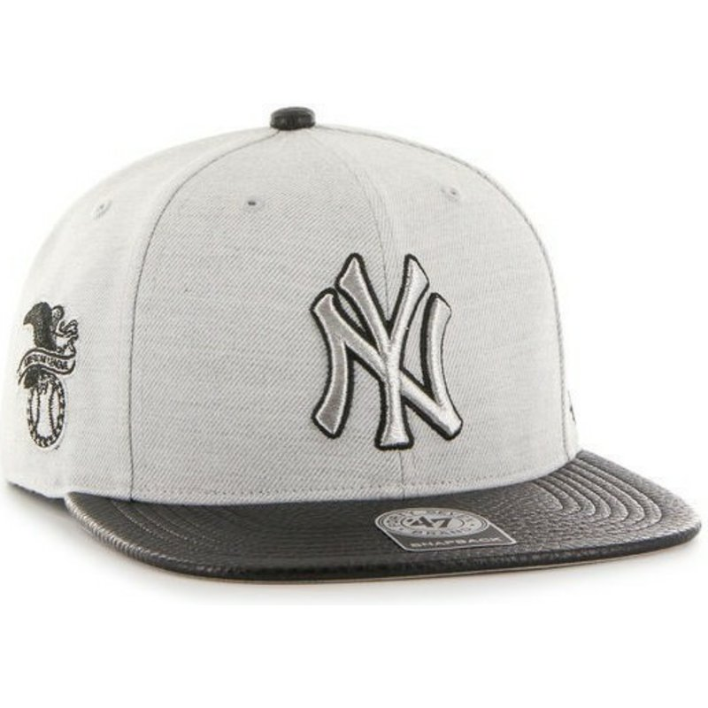 47-brand-flat-brim-side-logo-mlb-new-york-yankees-smooth-grey-snapback-cap