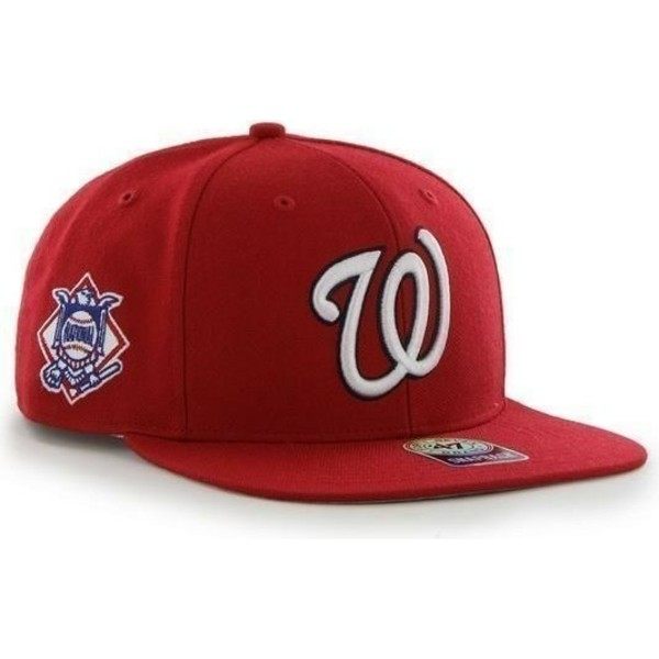 47-brand-flat-brim-side-logo-mlb-washington-nationals-smooth-red-snapback-cap