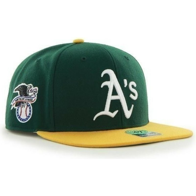 47-brand-flat-brim-side-logo-mlb-oakland-athletics-smooth-green-snapback-cap