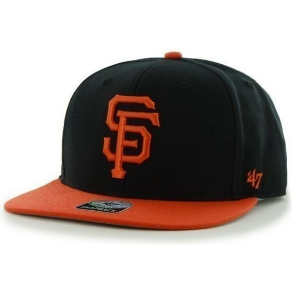 47-brand-flat-brim-side-logo-mlb-san-francisco-giants-smooth-black-snapback-cap