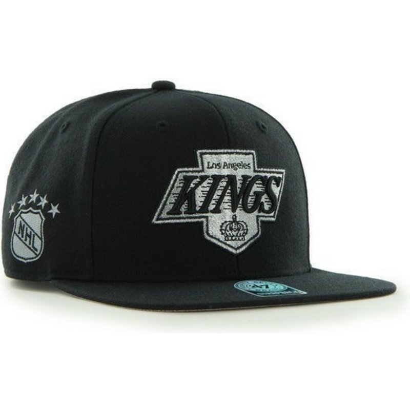 47-brand-flat-brim-nhl-los-angeles-kings-smooth-black-snapback-cap