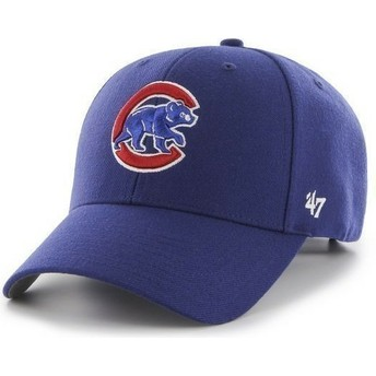 47 Brand Curved Brim MLB Chicago Cubs Smooth Blue Cap