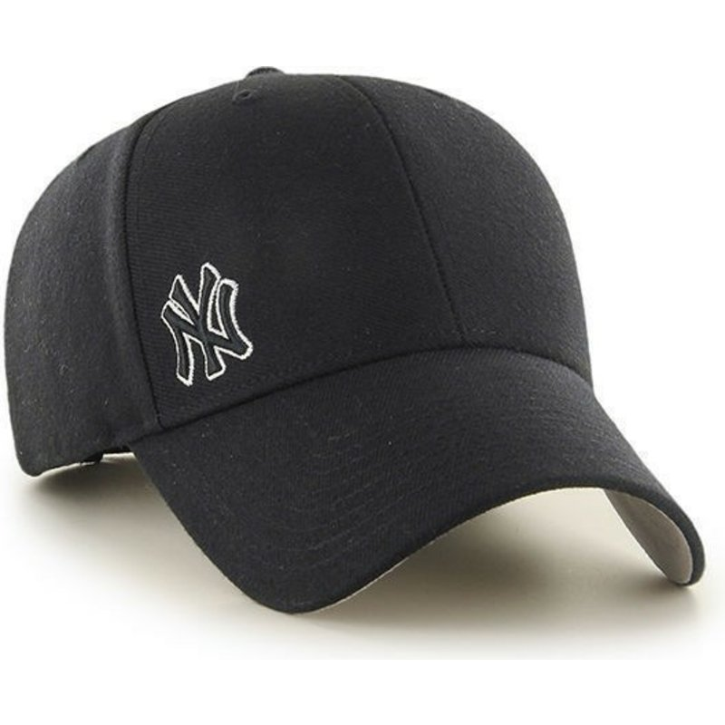 47-brand-curved-brim-small-logo-mlb-new-york-yankees-smooth-black-cap