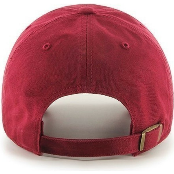 47-brand-curved-brim-smooth-red-cap