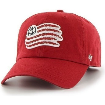 47 Brand Curved Brim Large Front Logo New England Revolution FC Red Cap