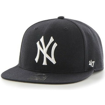 47 Brand Flat Brim Youth New York Yankees MLB Navy Blue Snapback Cap