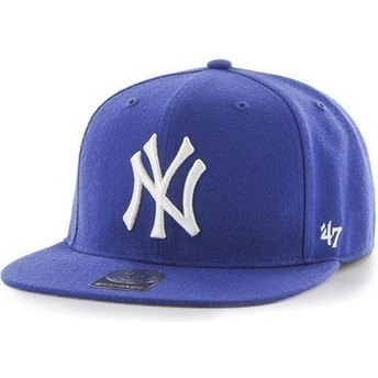 47 Brand Flat Brim Youth New York Yankees MLB Blue Snapback Cap