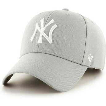 47 Brand Curved Brim New York Yankees MLB Grey Cap