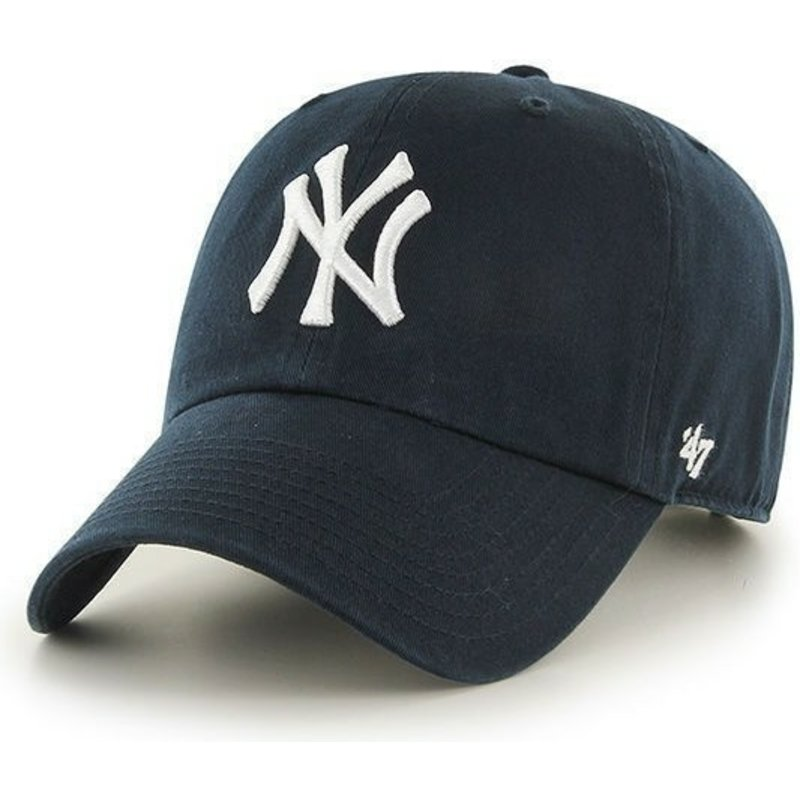 47-brand-curved-brim-new-york-yankees-mlb-clean-up-navy-blue-cap
