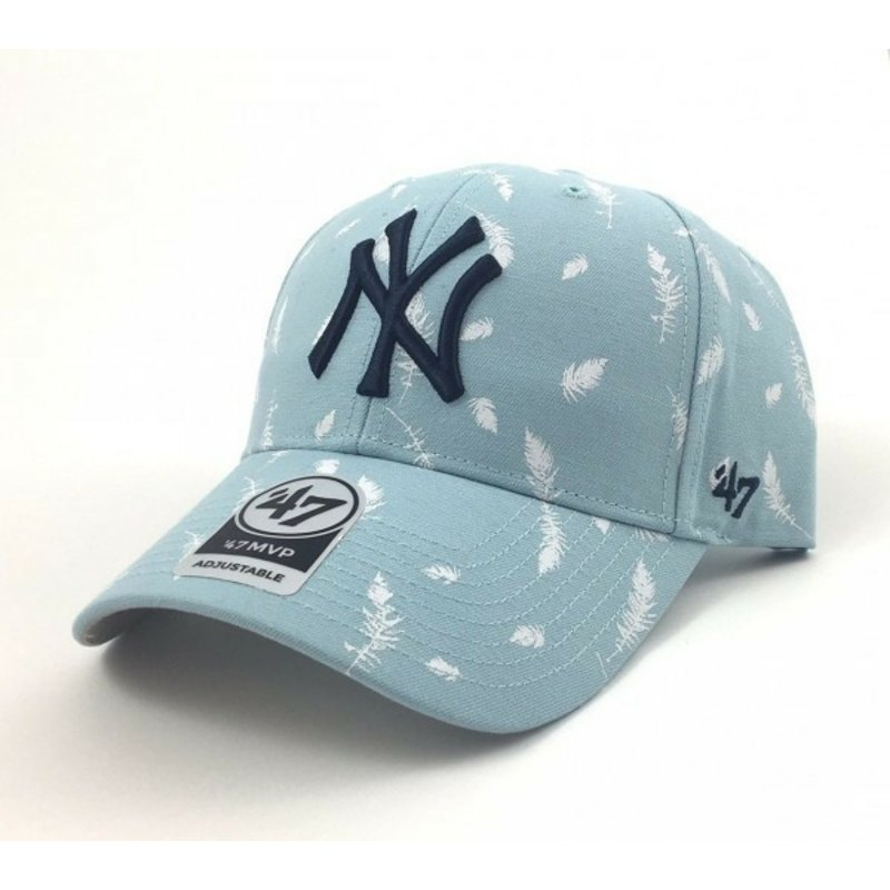 47-brand-curved-brim-feather-print-new-york-yankees-mlb-blue-cap