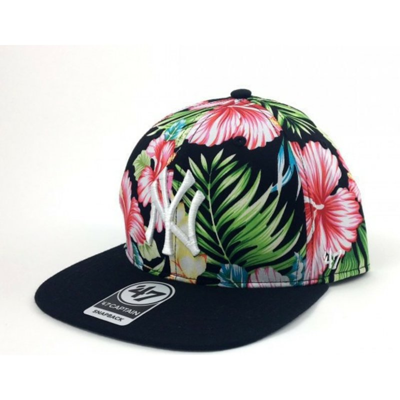 47-brand-flat-brim-flower-print-new-york-yankees-mlb-multicolor-snapback-cap