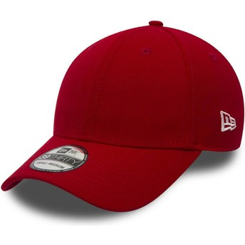 New Era Curved Brim 39THIRTY Basic Flag Red Fitted Cap