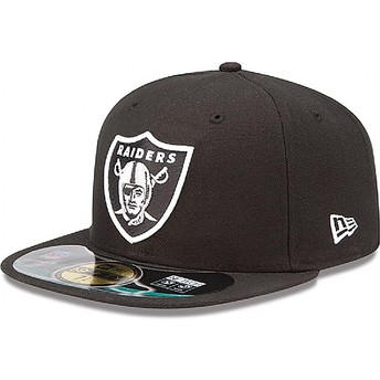 New Era Flat Brim 59FIFTY Authentic On-Field Game Oakland Raiders NFL Black Fitted Cap
