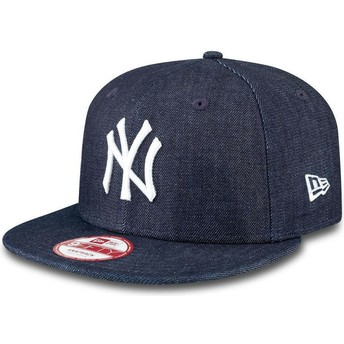 New Era Flat Brim 9FIFTY Essential New York Yankees MLB Navy Blue Snapback Cap