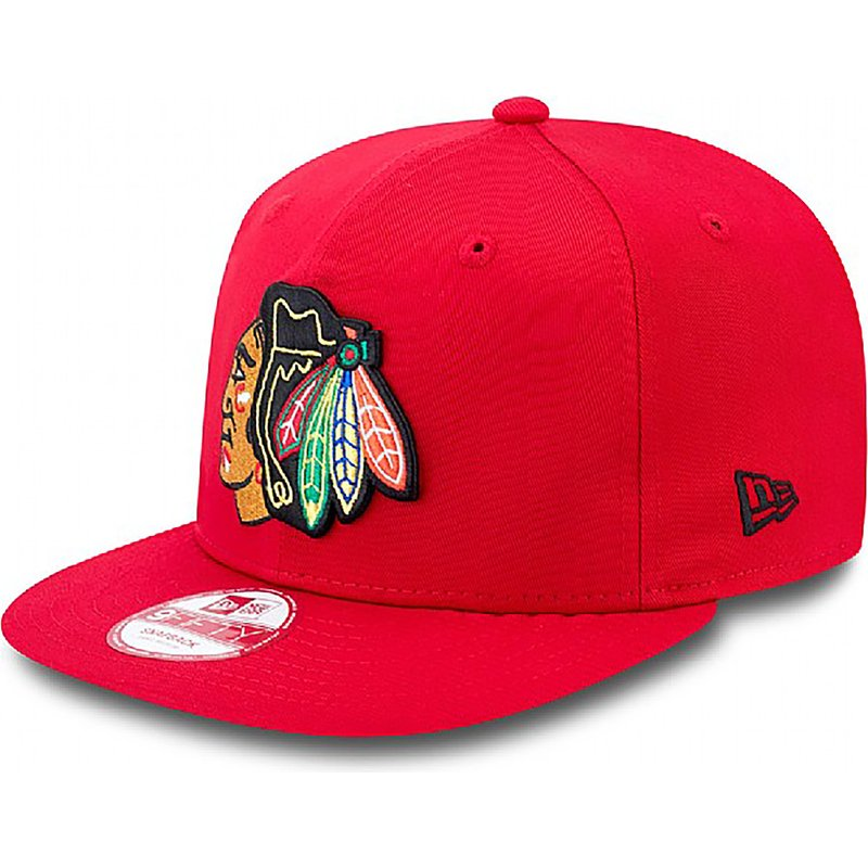 new-era-flat-brim-9fifty-cotton-block-chicago-blackhawks-nhl-red-snapback-cap
