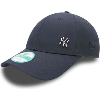 New Era Curved Brim 9FORTY Flawless Logo New York Yankees MLB Navy Blue Adjustable Cap
