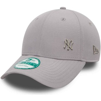 Casquette courbée grise ajustable 9FORTY Flawless Logo New York Yankees MLB New Era
