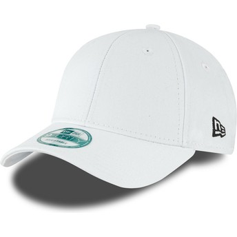 New Era Curved Brim 9FORTY Basic Flag White Adjustable Cap